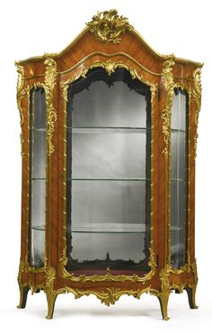 A transition style gilt bronze mounted kingwood vitrine France, third quarter century, possibly by Roux et Brunet French Furniture, Unique Furniture, Home Decor Furniture, Furniture Projects, Luxury Furniture, Vintage Furniture, Furniture Design, Mirror Photo Frames, Wall Mirror