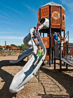 SlideWinder2 is our most versatile #playground for twists and turns of kids' #dreams!