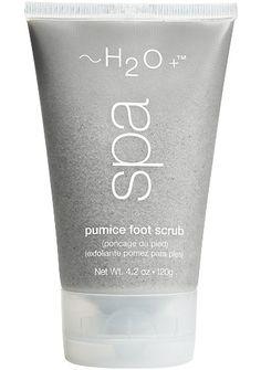 H2O's Pumice Foot Scrub.  Pure awesomeness
