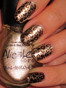 Nicole by OPI ~ The Next CEO +  Nicole by OPI ~ Cheri-Black stamped on top with Konad plate m57.