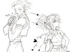Hisoka and machi Hunter x Hunter