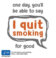 Game on. Repin for inspiration. You can quit smoking. For free help: 1-800-QUIT-NOW. #quitsmoking