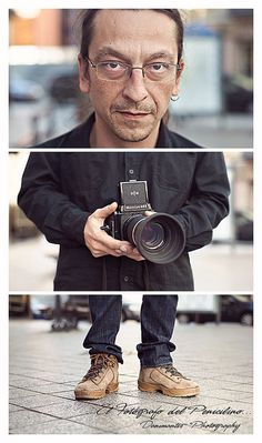Photography self-portrait lesson idea--3 frames/3 areas of you: face, hands, shoes