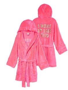 Plush Robe PINK - I have this, and it's SO comfy and plushy omg!!! #iwokeuplikethis