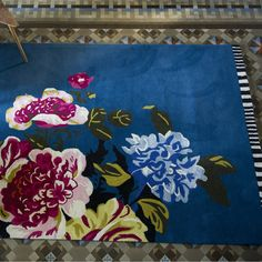 Stunning! Amrapali rug  in blue, pinks, purples and greens from Designers Guild.