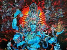 lord shiva by abhishek singh Shiva Art, Shiva Shakti, Krishna Art, Hindu Art, Indian Gods, Indian Art, Hindu Deities, Buddhist Art, Visionary Art