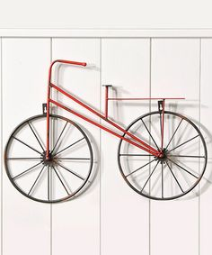 Take a look at this Red Bicycle Design Wall Art on zulily today!