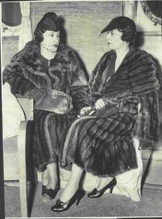 1936 Lady Thelma Furness Mrs Gloria Vanderbilt Twins Part Press Photo