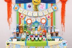 Monster theme adorable!