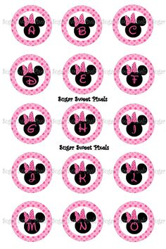 INSTANT DOWNLOAD Mouse Ears Alphabet Numbers  by sugarnspicebow, $1.69