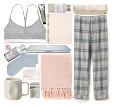 """""""A Night In"""" by kpanda56 ❤ liked on Polyvore featuring Steven Alan, Sloane & Tate, Surya, HAY, SELECTED, The Body Shop, Kiehl's, Alex Marshall Studios, Très Pure and L:A Bruket"""