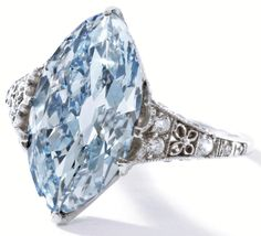 this lovely fancy blue diamond ring by Tiffany and Co., circa 1910Untitled.png (880×799)