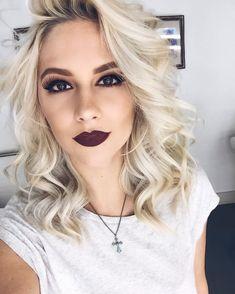 Fall makeup alert: burgundy lip Stila cosmetics stay all day liquid lipstick - Ricco