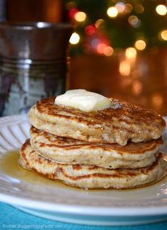 Create the perfect palette for maple syrup with this whole-wheat pancake recipe.