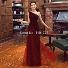 Free Shipping Elegant  One Shoulder Red Prom dress 2014 Straight Floor Length Evening Gowns 2014 New Style $98.00 Prom Dress 2014, Homecoming Dresses, Bridesmaid Dresses, Cheap Dresses, Formal Dresses, One Shoulder Prom Dress, Wedding Dress, Tulle Dress, Mother Of The Bride