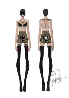 Rihanna's stage costume by Givenchy