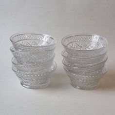 Imperial Glass Cape Cod Clear Lot of 9 Small Fruit Dessert Bowls 4.25 Inch #ImperialGlassOhio
