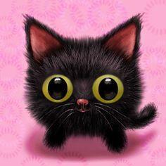Big eyed cartoon cat | Cats | Pinterest | Cartoon and Cat