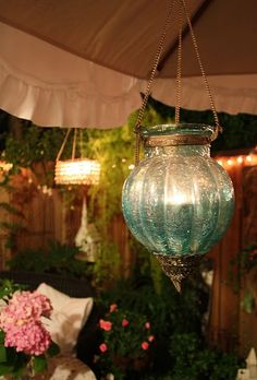 Great lighting for a deck or patio.