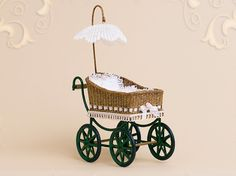 WC/912, wicker, child's carriage, scale 1 : 12, made by Will Werson.
