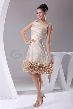 Knee-Length Lace Square Beading Sleeveless Bridesmaid Dress  http://www.GracefulDress.com/Knee-Length-Lace-Square-Beading-Sleeveless-Bridesmaid-Dress-p20742.html