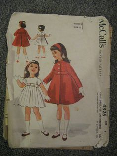 Vintage Girl clothes patterns by ConfectionsMeliBee on Etsy, $4.00