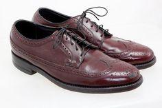 Florsheim Leather Wingtip Dress Varsity Shoe Men's Size 8 1/2 C Cordovan #30845…