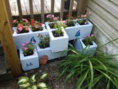 Cinder block planter.