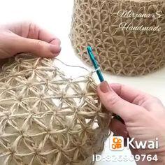 How to knit crochet basket video tutorial - # crochet basket video tutorial # holding . How to knit crochet basket video tutorial - # HäkelkorbVideoTutorial History of Knitting Str. Crochet Tote, Knit Crochet, Crochet Lamp, Crochet Baskets, Crochet Gloves, Crochet Handbags, Crochet Stitches Patterns, Knitting Patterns, Macrame Patterns