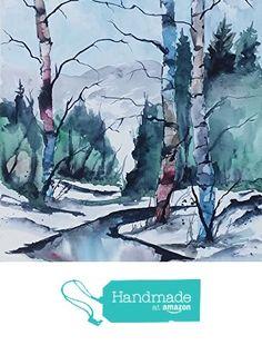ORIGINAL painting watercolor painting original WATERCOLOR Birch Tree Art/jim lagasse/watercolor original/BIRCH trees from Maine ARTist http://www.amazon.com/dp/B01G76U0GO/ref=hnd_sw_r_pi_dp_hzZrxb1Y23N58 #handmadeatamazon