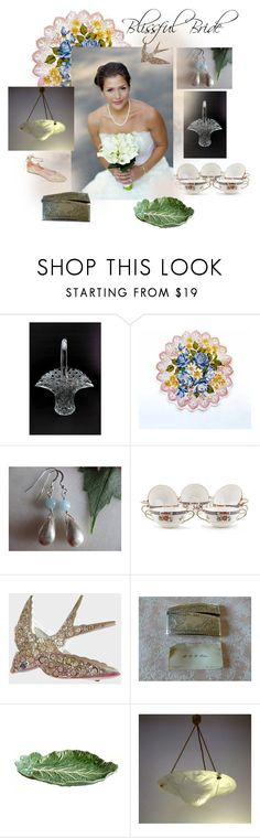 Blissful Bride by seasidecollectibles on Polyvore featuring Summit by White Mountain, Avon, Noritake, Handle, Bordallo Pinheiro, vintage, handmade, Weddinggifts, polyvoreset and #etsyevolution