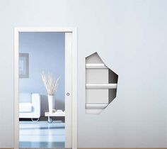www.k-rauta. Sliding Pocket Doors, Downstairs Toilet, Room Paint, Entrance, Mirror, Interior, Wall, Furniture, Apartment Ideas