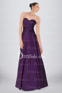 elaborated-sweetheart-aline-bridesmaid-dress-featuring-ruches-and-flowers-in-purple-satin
