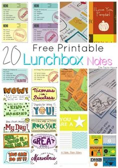 Lunching Awesome and 20 FREE Printable Lunchbox Notes for kids!  #lunchingawesome #ad