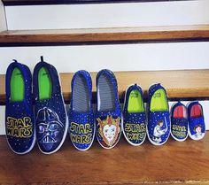 91ff2d1c556e70 Items similar to Family Star Wars Shoes - Star Wars - Star Wars Shoes - Kids  Shoes - Adult Shoes - Custom Order - Darth Vader Shoes - Princess Leia on  Etsy