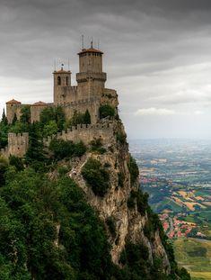 Guaita castle in San Marino, Italy.  Photo by Philip Peynerdjiev.