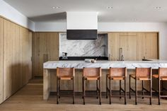An Incredible Cedar-Clad House Captures Views of the Sea and Forest - Dwell #kitchen #marble