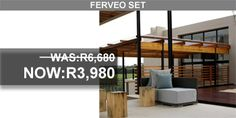 Ferveo set on sales South Africa, Pergola, Outdoor Structures, Patio, Outdoor Furniture, Creative, Home Decor, Decoration Home, Room Decor