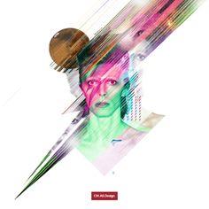Bowie Glitch Poster Design in Progress