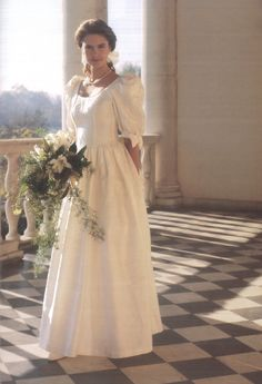 Such a classic! How many of you recognise this 90s wedding dress? #lauraashley60