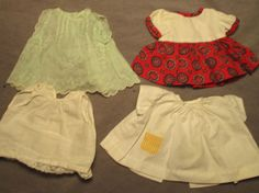 """Lot of Vintage Doll Clothes - for Chubby 9""""-10"""" Dolls 