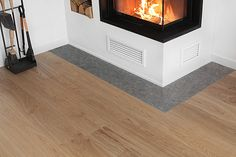 Trend Trends – – Contura stove and Kährs Cornwall oak flooring, one piece … – Kamine Bloğ Cornwall, Modern Fireplace, Home Trends, Room Inspiration, Villa, New Homes, Home Appliances, Living Room, Oak Flooring