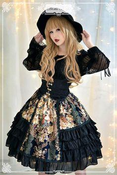 ✨✨ #LolitaUpdate: [-✌-The Night Rose-✌-] Lolita Corset and Skirt