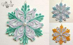 Quilled snowflakes by pinterzsu.deviantart.com on @DeviantArt