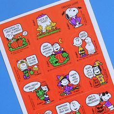 Peanuts Halloween stickers