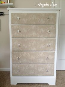diy fabric covered dresser, chalk paint, painted furniture, reupholster