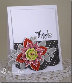 by Maureen @ Buttons & Bling - I love the leaves with the medallion flower and the layout