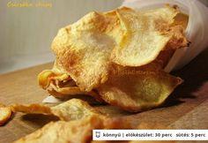 Csicsóka chips Snack Recipes, Snacks, Bruschetta, Chips, Apple Pie, French Toast, Deserts, Curry, Muffin