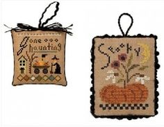 "Gone Haunting Spooky is the title of this cross stitch pattern from the Lizzie Kate series titled ""Tingles"" - this is the final design in th..."