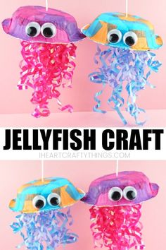 This colorful jellyfish craft for kids is great for a summer kids craft or ocean kids craft. It's so simple to make and requires no messy painting. Craft Colorful Jellyfish Craft for Kids Ocean Kids Crafts, Ocean Theme Crafts, Crafts For Kids To Make, Art For Kids, Summer Crafts For Preschoolers, Preschool Summer Crafts, Ocean Themes, Simple Kids Crafts, Painting Crafts For Kids